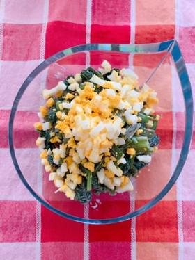 空芯菜と卵の和えもの