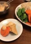 厚揚げと茹で野菜の味噌マヨサラダ