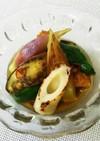 冷やしても◎夏野菜とちくわの焼き浸し。