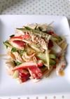 たこと胡瓜とささみの中華サラダ。おつまみ