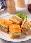 やわらか♡レア牛カツの一口サンドイッチ