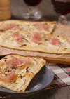 発酵なしで簡単!生ハムのクリスピーピザ☆