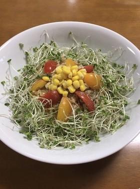 汁なし和え麺☆サバ缶野菜のオリーブオイル