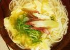 お素麺のお味噌汁♡かき玉入り