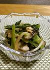 小松菜と玉ねぎのナムル