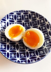 しっとりなめらかゆで卵♪