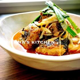 鯖の水煮缶と豆腐のピリ辛味噌煮♪♪