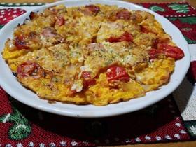 ハッシュドポテトで簡単スペイン風オムレツ