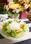 豆腐くりーむDEラーメンサラダ
