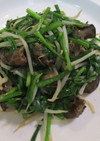 焼き鶏レバニラ(レンジ)