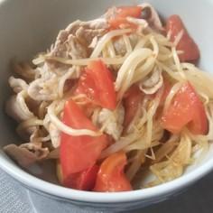 トマトともやしのさっぱり煮