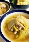 電気圧力鍋で鶏もも肉と白菜の無水スープ