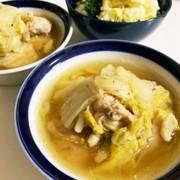 電気圧力鍋で鶏もも肉と白菜の無水スープの写真