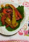 パプリカと大豆カレーそぼろのソテ−。