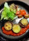 ズッキーニハンバーグ♡トマトソース