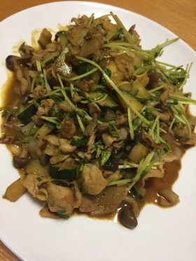 S&Bカレー風味の野菜炒め