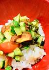 *マクロビ*夏野菜の めかぶトロトロ