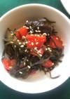 野菜の塩昆布炒め(透析食)