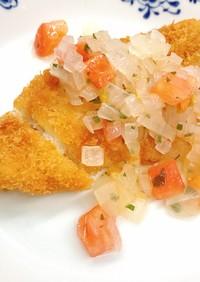 【病院】揚げ魚ドレッシングソース【給食】
