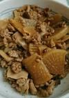 レンジで大根ときのこと挽き肉のそぼろ煮