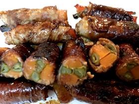弁当作り置き いんげんの肉巻きの照り焼き