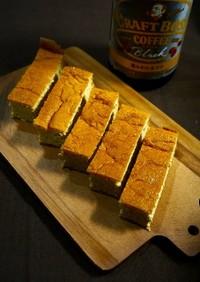 簡単!半熟チーズスフレケーキ☆コーヒー味