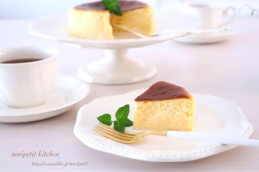 材料3つ♡とろける♡半熟チーズケーキ