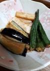 夏の献立☆ナスとオクラと長芋の揚げ浸し