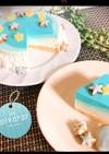 ☆レアチーズケーキ(七夕version)