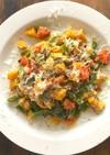 糖質制限!夏野菜のペペロンチーノ