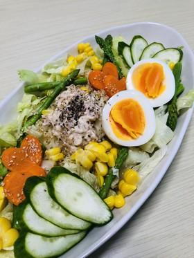 野菜と愛情たっぷり☆ツナマヨ塩冷やし