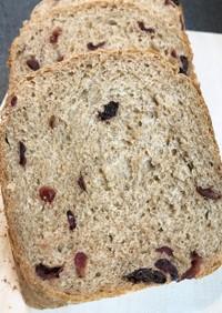 全粒粉100%クランベリーパン HB使用