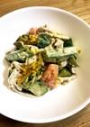 簡単!夏野菜と豚しゃぶのポン酢マヨサラダ