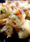 太刀魚と梅肉大葉ロール天ぷら