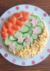 七夕☆作り置き具で!簡単ちらし寿司ケーキ