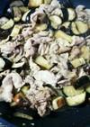 茄子と豚肉の味噌にんにく炒め