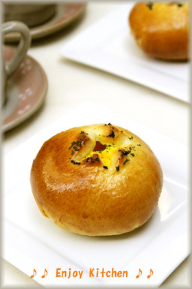 HBで作るふんわりマヨたまごパン