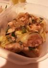 【作り置き】鶏肉とお野菜の梅おかか和え