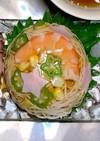 七夕前菜☆豆腐素麺と野菜のゼリー寄せ