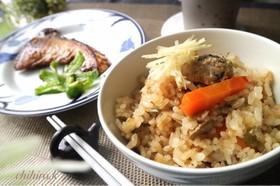 鯖缶の簡単炊き込みご飯☆