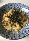 余った白菜の漬け物で和風ペペロンチーノ