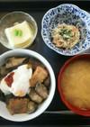 夕飯(7/2) 茄子と厚揚げの味噌炒め丼