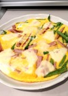 いんげんと魚肉ソーセージの簡単オムレツ