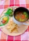 ひよこ豆とアボカドのスープ
