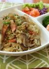 アスリート食★舞茸とベーコンの炊込ピラフ