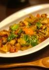 鶏むね肉と色野菜のカレーマヨ