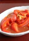 朝昼夕♪美味♪トマトとパプリカの甘酢炒め