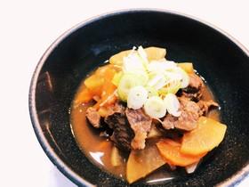 圧力鍋で時短★牛スネ肉の味噌煮