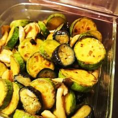 簡単作りおき♪韓国カボチャと茄子の常備菜