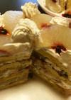 梨のミルフィーユ風パンケーキ